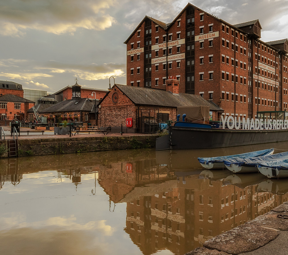 A photograph at Gloucester Docks
