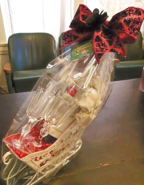 Christmas Sleigh Basket