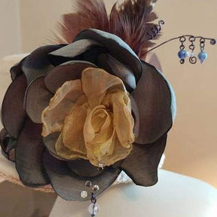 Silk Flower Handmade Fascinator
