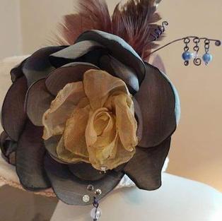 Silk Flower Handmade Fascinator