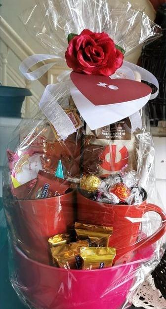 Romantic Breakfast For Two Basket