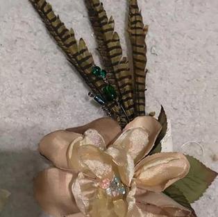 Silk Flower Fascinator