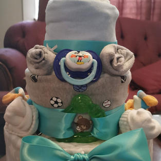 Boy Themed Diaper Cake
