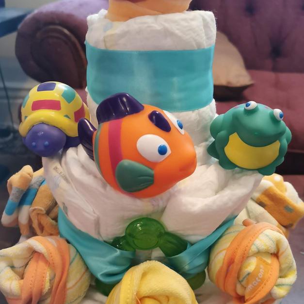 Small Rub-a-Dub Diaper Cake