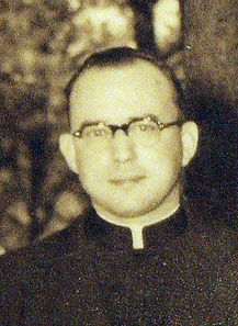 Head shot of Father Hubert Ratkowski, circa 1950