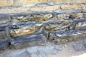 Limestone weathered by nature.