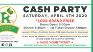 3rd Annual Royals CASH Party (CANCELED)