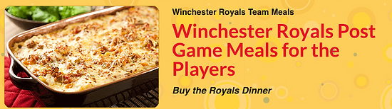 Winchester Royals Post Game Meals