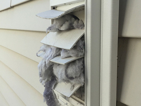 When was the last time you cleaned out your dryer vent?