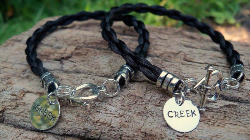 Braided Tails Custom Horsehair Bracelet
