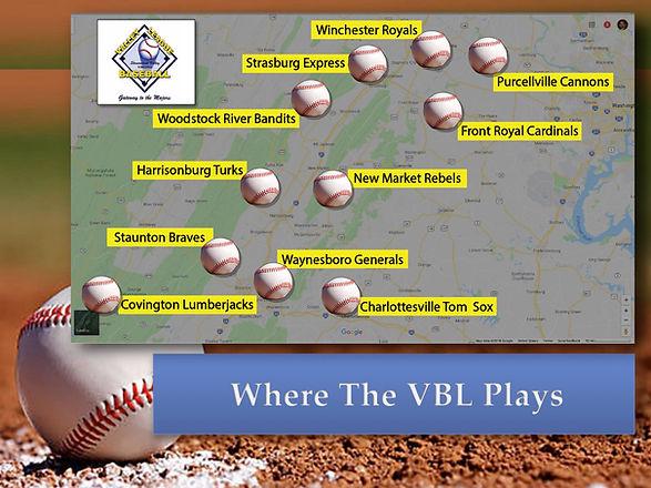 Valley League Baseball Map