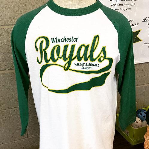 Jersey Three-Quarter Sleeve Baseball T-Shirt