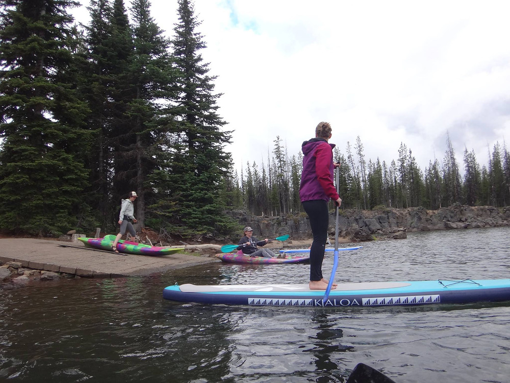 Our Kayaks and Paddle Boards on Sparks Lake