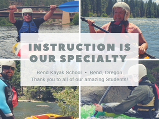 Whitewater Kayaking Lessons in our Hot Bend Summer (the best!)
