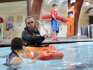 Winter Kayak Rolling Classes at Juniper Swim and Fitness in Bend