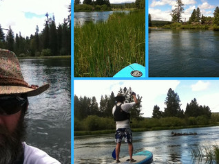 Where to Stand Up Paddle Board Around Bend? Above Dillon Falls is Beautiful and Challenging