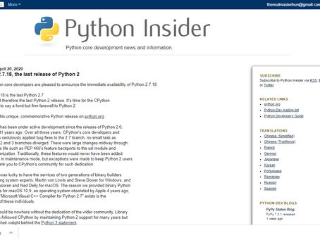 Bye-bye Python 2.x!