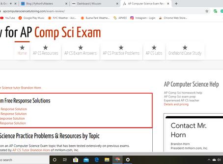 FREE 2019 AP CS A FRQ (Free Response Question) Solutions