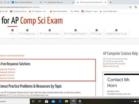 FREE 2019 AP CS A FRQ (Free Response Question) Solutions