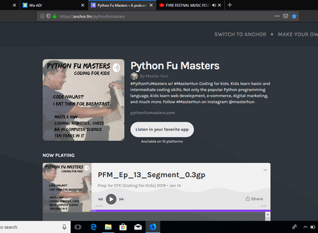 Listen to the Python Fu Masters Podcast