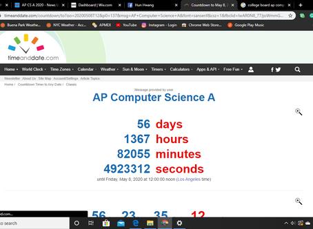 [03/12/2020] AP CS A Countdown: 56 days