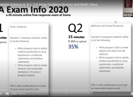 [04/10/2020] News Update: AP Computer Science A (2020)