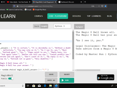 """Magic 8 Ball"" in Python"
