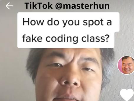 Fake Coding Classes vs. Real Coding Classes