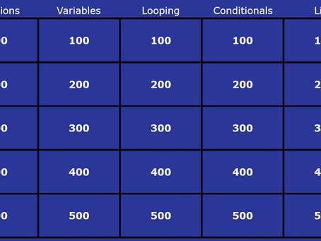 Play Python Jeopardy (Python Fu Masters)!