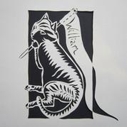_Cat #1_ By Lady Kitt, 2015__#petportraits  #paperart #papercutting