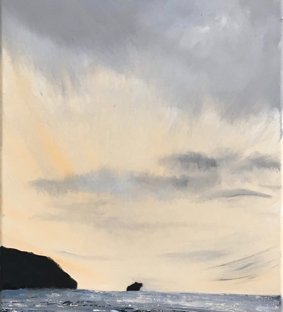Portreath Sunset - SOLD