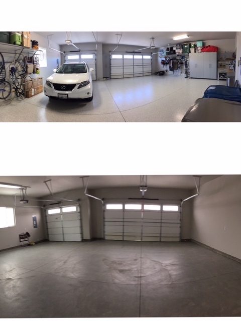 garage before & after...
