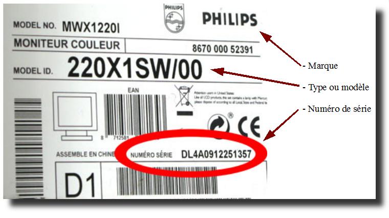 Exemple d'étiquette produit