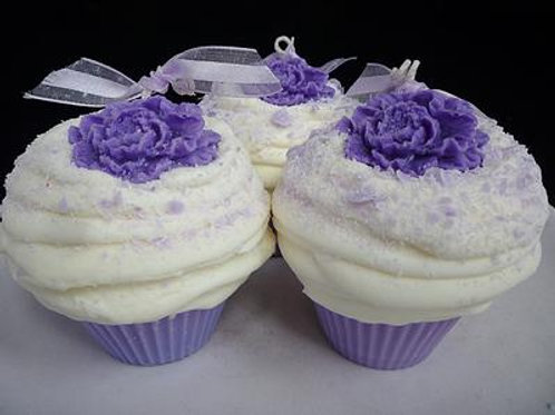 Purple Peony Passion Soy Cupcake Candle Set