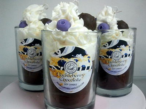 Huckleberry Chocolate Truffle Drink Candle