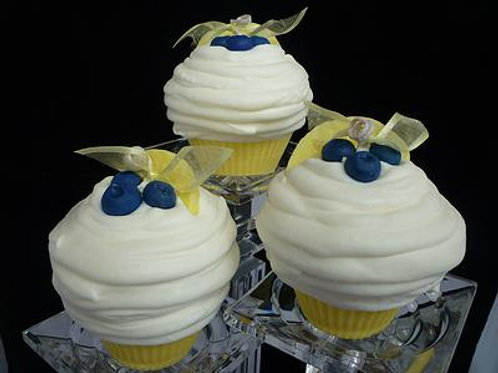 Lemon Blueberry Soy Cupcake Candle