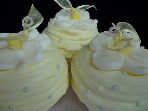 Yellow Magnolia Soy Cupcake Candle Se