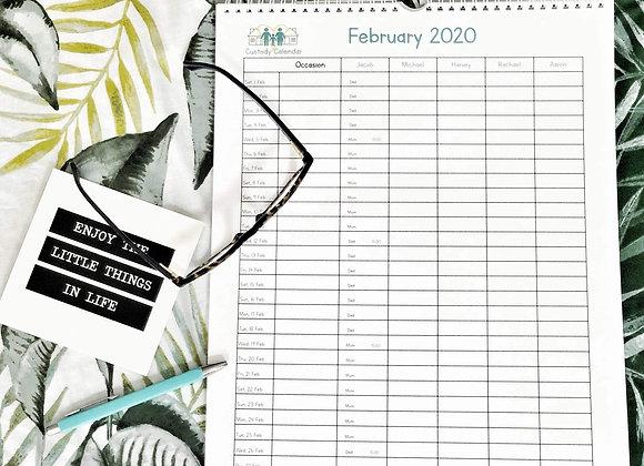 Annual Custody Calendar