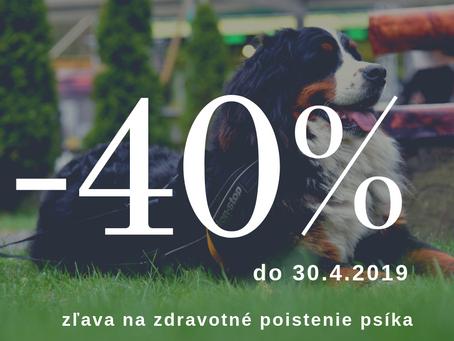 Posledná šanca na využitie zľavy až 40% na poistenie psíka