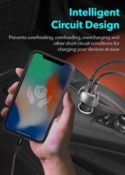 Peripower PS-U15 QC3.0 Dual USB Port Car Charger