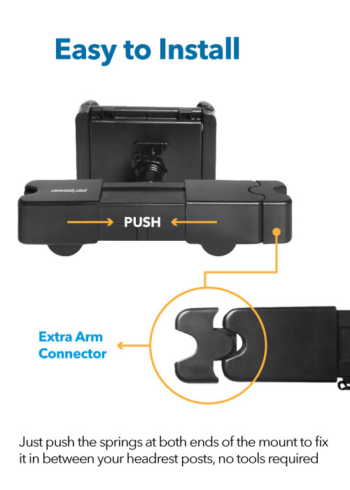Headrest Mount with Charging Ports