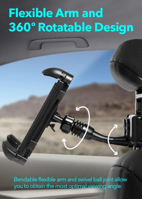 Headrest Mount with Lighter Socket