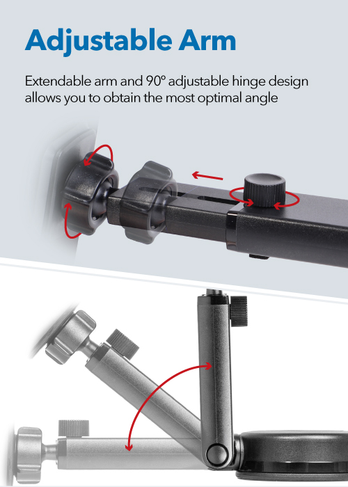 Extendable Arm Dashboard Mount