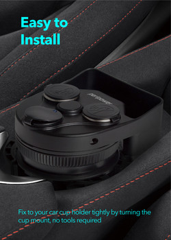 Cup Mount with USB Ports