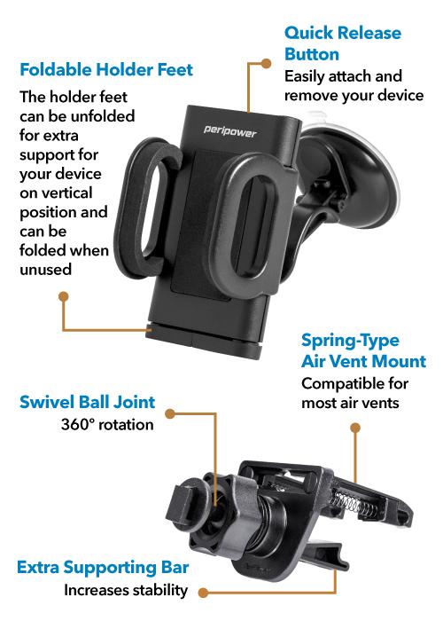 Air Vent Windshield Mount Kit