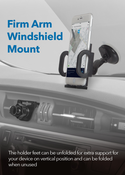 Firm Arm Windshield Mount