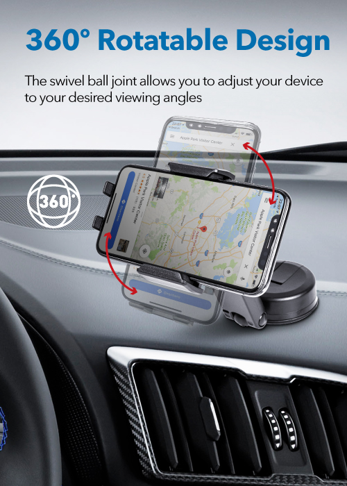 MT-D14​ Dashboard Sticky Mount with Smartphone Holderble Arm Dashboard Mount