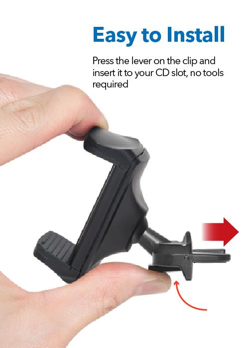 Clip Type CD Slot Mount