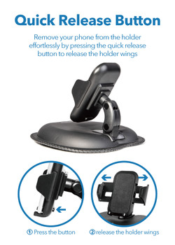 Peripower MT-D05 Beanbag Mount with Holder