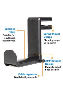 Peripower MT-AM05 Headphone Holder Holder